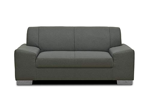Domo Collection Alisson Couch | 2-Sitzer Sofa, 2er Garnitur, grau