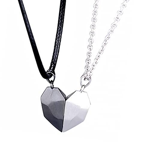SOIMISS 1 Paar Liebe Herz Liebhaber Liebhaber Halskette Stilvolle magnetische Halskette Kette Halsschmuck
