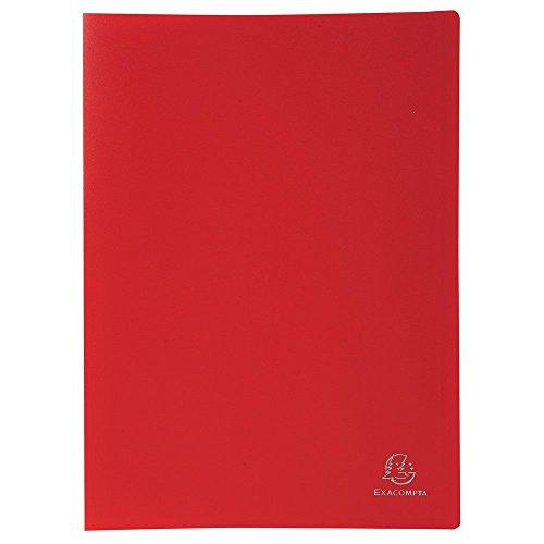 Exacompta 8555E - Carpeta de 50 fundas PVC, A4, color rojo
