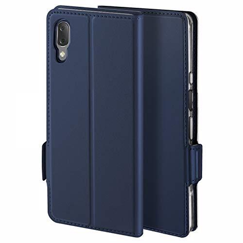YATWIN Handyhülle für Sony Xperia L3 Hülle Premium Leder Flip Schutzhülle für Sony Xperia L3 Tasche, Blau …