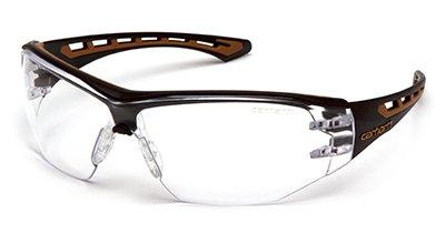 Carhartt CHB810ST Easley Safety Glasses, Clear Anti-Fog Lens, Black/Tan Frame - Quantity 12