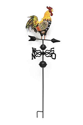 Coq sur éolienne, métal, décoré des 2 côtés