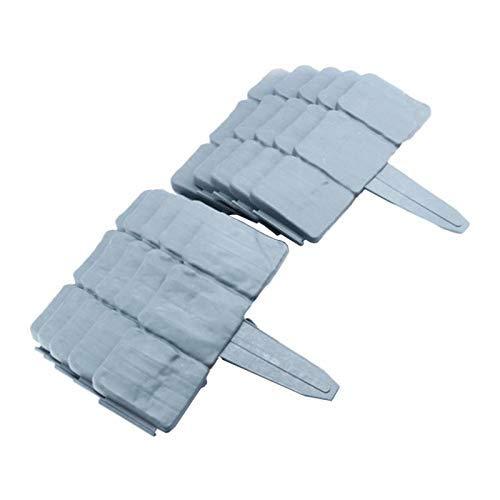 Tubayia 10 unidades de bordes de césped de imitación de piedra para jardín decoración (gris)