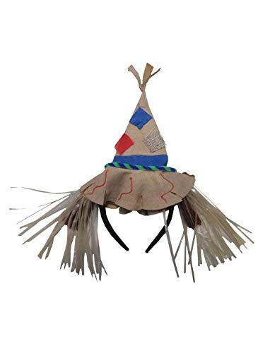 Luxuspiraten - Kostüm Accessoires Zubehör, Vogelscheuche Hut, Diadem with Scarecrows Hat, perfekt für Halloween Karneval und Fasching, Beige