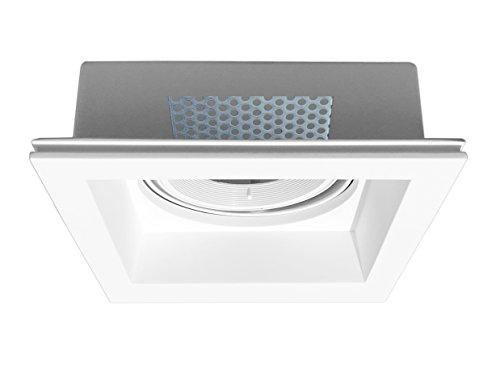 Onlineplaster 806ELED30 plafondinbouwlamp, vierkant, gips, 13 W, natuurlijk wit, 21 x 6, 7 cm