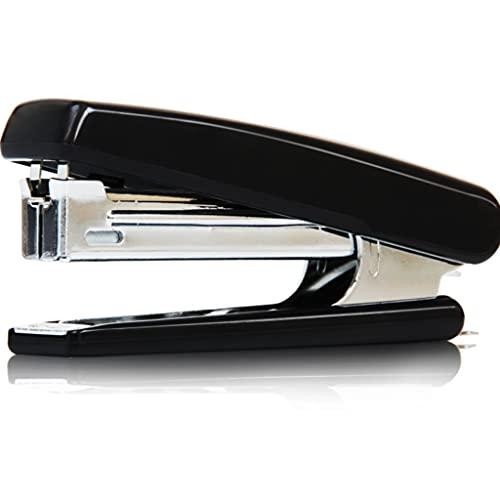Grapadora sin Esfuerzo for Las Grapas portátiles de Grapas No.10 posee 40 Grapas 12 Máquina de Grapadora de Seguridad de Capacidad 12 (Color : Black)