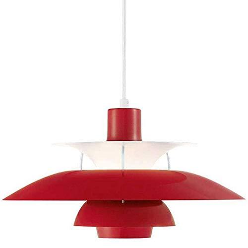 Moderna PH5 pendiente de la luz simplicidad araña roja comer colgante mesa lámpara techo aluminio pantalla E27 interior oficina salón dormitorio comedor Bar Cafetería Altura ajustable φ50CM