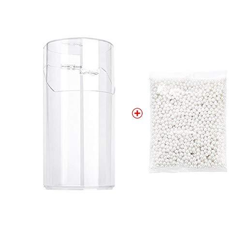 SHUAIGE Aufbewahrungsbox für Make-up-Pinsel, staubdicht, mit weißer Perle, 24 x 13,5 x 13 cm,...