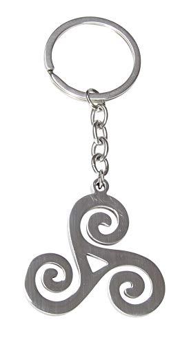 Schlüsselanhänger, Taschenschmuck, Triskel-Symbol, Edelstahl
