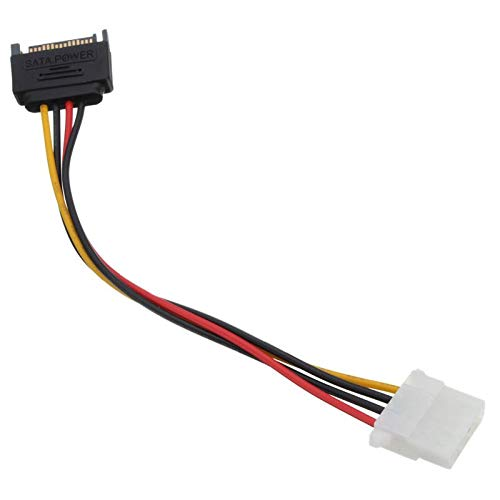 unexon SATA auf MOLEX Adapter 18CM Kabel