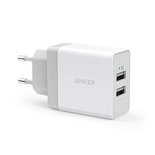 Anker 24W 2 Port USB Ladegerät mit PowerIQ Technologie, Reise Ladegerät für...