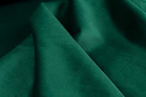 Generico Velvety - Morbido e Soffice Tessuto Velluto al Mezzo Metro - Altezza 140 cm - 1 Quantità = 50 cm - per Arredo, Tappezzeria - 16 Colori (Verde Scuro)