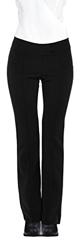 HOT FROM HOLLYWOOD Women's Formal Career Fitted Knit Double Button Textured Long Pants