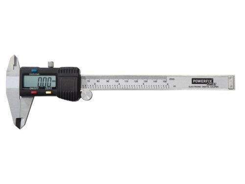 Powerfix® Profesional + Digital A-12/–Calibre–Rango de medición hasta 150mm–nulo ajuste de punto...