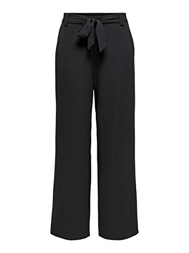 Only Onlnova Lux Palazzo Pant Solid Wvn 5 Pantaloni, Nero, 44 Donna