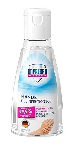 Impresan Hände Desinfektions-Gel: Antibakterielle Hand-Reinigung für unterwegs - auch für sensible Haut - 1 x 55 ml