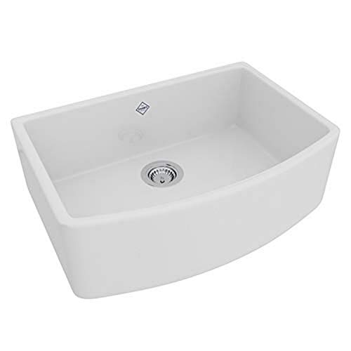 ROHL RC3021WH FIRECLAY KITCHEN SINKS, White