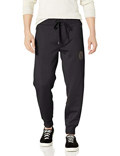 True Religion Men's TR Logo Sweat Pant, Black, XX-Large