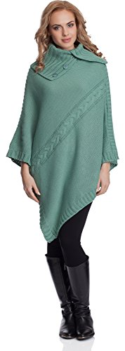 Merry Style Poncho Mujer 2V3T1 (Menta, One Size)