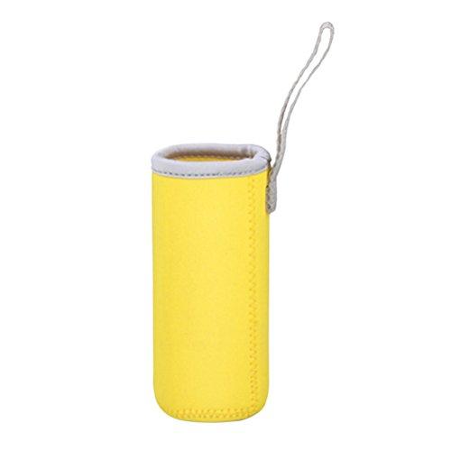 BESTONZON Bolsa para botellas de agua de 550 ml, para cristal o plástico, tamaño 6,8 x 19 cm (amarillo)