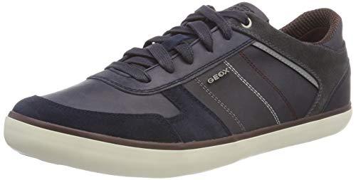 Geox Herren U Box C Sneaker, Blau (Navy/Dk Burgundy Cf47j), 41 EU