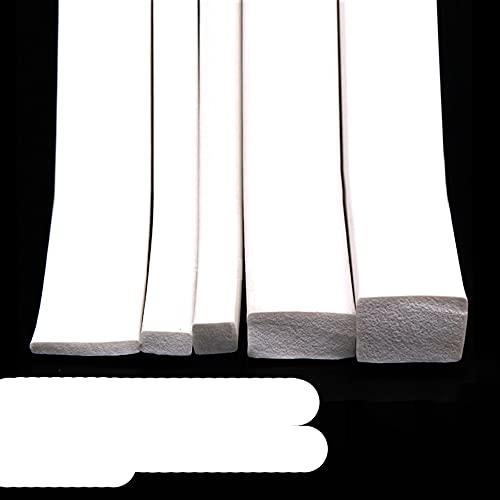 1/2/3 / 5Meter Tira de esponja cuadrada Puertas de goma espuma de silicona blanca Junta de ventanas Sello de ajuste 5x5mm-20x30mm-20...