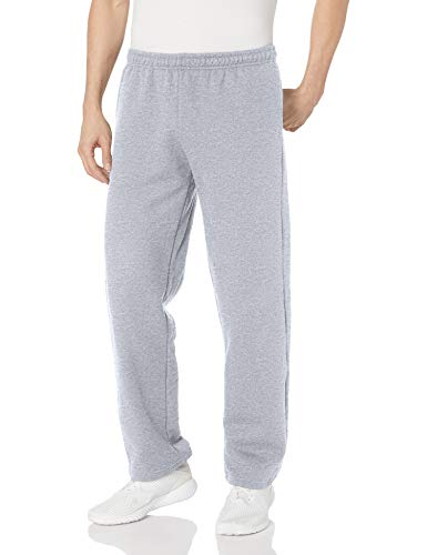 Gildan Men's Fleece Open Bottom Pocketed Pant, Sport Grey, X-Large