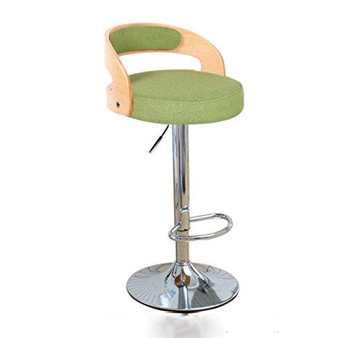 Ali@ Chaise à dossier en bois massif Chaise à barres élégante Chaise à barres Tabourets de bar Chaises de réception Tabouret haut (Couleur : Green)
