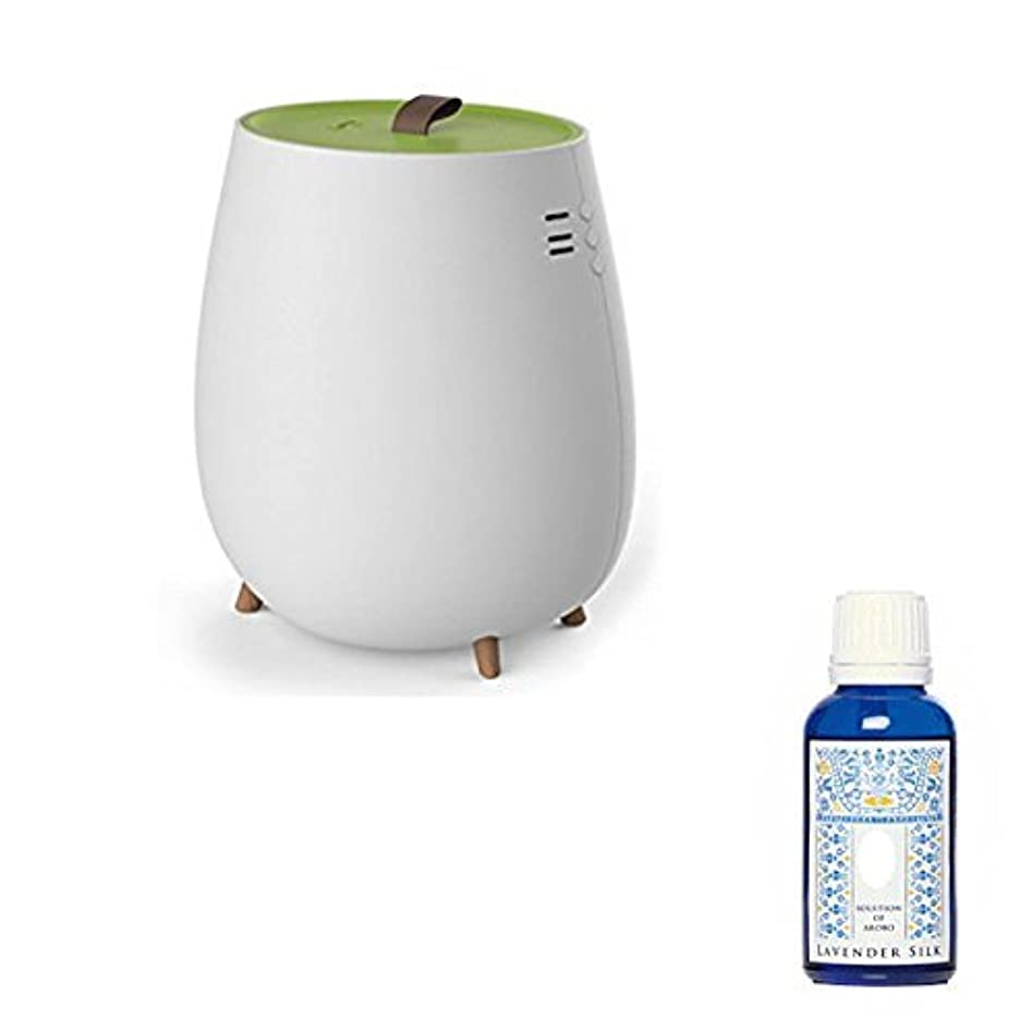 豊富な迷信ポンペイアロマ加湿器 超音波加湿器 2.3L セラヴィ アロマソリューション付 CLV-296 グリーン