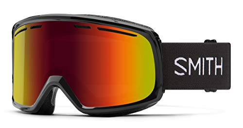 Smith Range Snow Goggle – Black | Red Sol-X Mirror