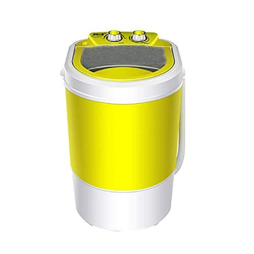 WCY Lavado portátil Sola máquina 4,5 kg / 6.5KG Total Capacidad de la Lavadora y Secadora de Spin compactos for Acampar dormitorios Apartamentos Lavadora, Amarillo/Negro yqaae