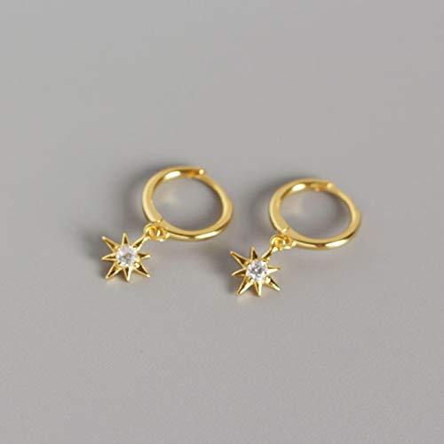 liuliu Genuine 100% 925 Sterling Silver Jewelry Mini Blue Zircon Evil Eyes Earring Pendant Small Stud Earrings for Women Femme