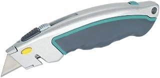 Wolfcraft Snabbväxling trapeziumbladkniv med infällbart blad I 4131000 I trapeziumbladskniv för krävande applikationer