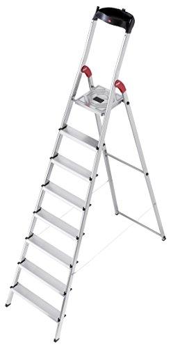 Hailo 8160 – 801 L60 Scala in alluminio con 8 gradini