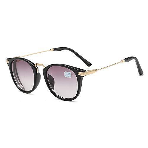 GEMSeven Metall Fertige Myopia Sonnenbrille Graue Linse Mit Dioptrien