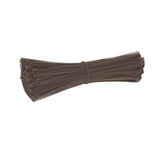 Serre-câbles de Nylon, Attaches de câble autobloquant, Collier de Nylon pour Organiser en sécurité des câbles, Un Outil Parfait pour Le Travail du Bricolage - Lot de 100, Marron
