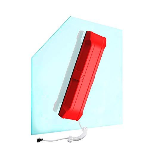 Pulitore per finestre con doppio lato magnetico per pulizia di finestre, per finestre a doppio vetro, adatto a finestre di 15-26 mm di spessore (rosso, 15-26 mm)