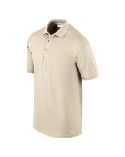 Gildan 3800 Ultra Cotton Erwachsene Combed Ringspun Pique Polo Shirt Sand L
