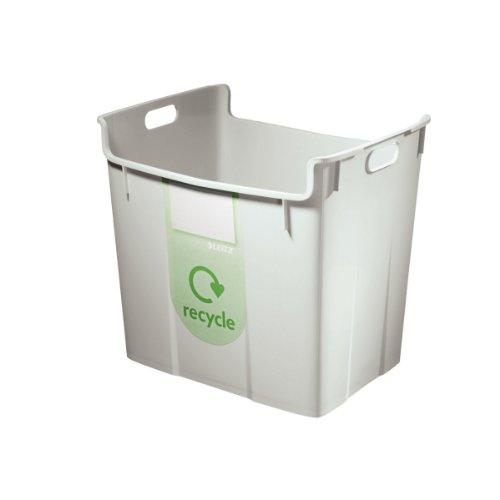 Leitz 52090085 Wertstoffsammelbehälter, 40l, Polypropylen, grau