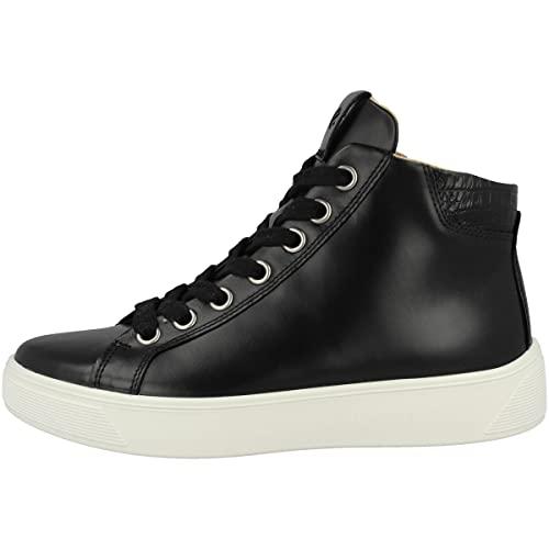 ECCO Zapatillas de mujer medianas Street Tray, Black Black 291213 51052, 42 EU