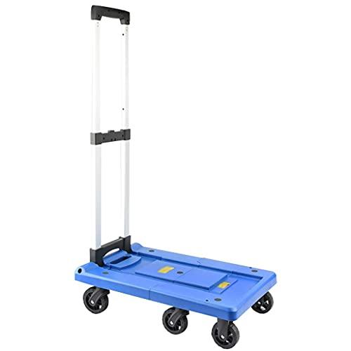 Z-SEAT Utility Carts Grocery Utility Shopping Cart Langlebiger, Leichter Wagen, stummer und verdickter Outdoor Utility Cart, Treppensteigerwagen mit verstellbarem Hebel, tr