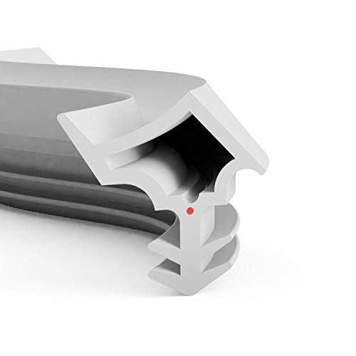 DIWARO® Stahlzargen-Dichtung SZ006   weiß oder grau   5 lfm für Haus- und Innentüren. Zum Schallschutz und abdichten der Tür. Bestehend aus TPE (Thermoplastischen Elastomer) (grau)