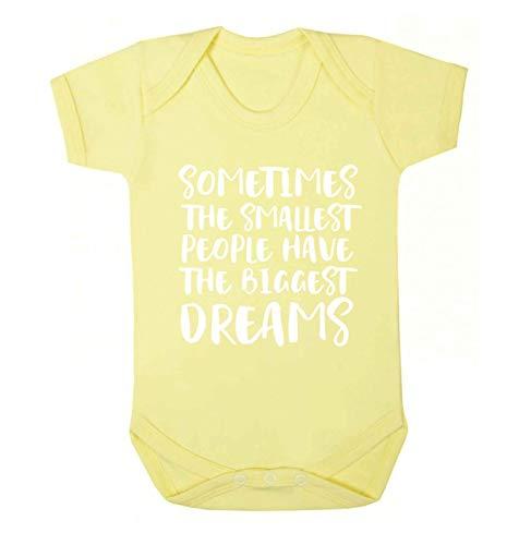 Flox Creative Baby Gilet pour bébé Motif Smallest People Biggest Dreams - Jaune - XXL