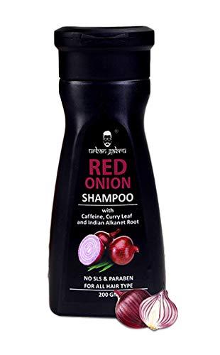 Glamorous Hub Urban Gabru Champú de cebolla para el crecimiento del cabello y el control de la caída del cabello - Sin parabenos ni sulfatos 200g | 200gm