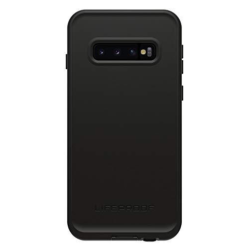 Lifeproof FRE Series Waterproof Case for Galaxy S10 - Retail Packaging - Asphalt (Black/Dark Grey)