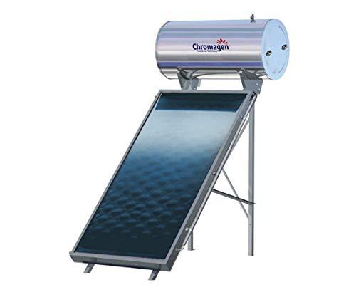 Termosifón Solar 200L Perfil Alto | Agua Caliente Gratis | Acumulador + Captador Estructura + Kit Conexión + Anticongelante (Estructura Inclinación 30ª)