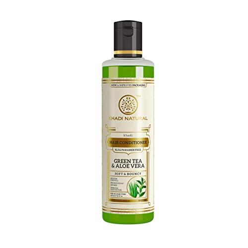 Khadi Natural Herbal Green Tea And Aloe Vera Hair Conditioner for all Hair Types SLS and Paraben Free (210 ml)