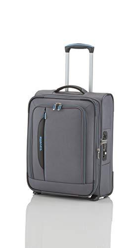 travelite 2-Rad Weichgepäck Koffer Handgepäck erfüllt IATA Bordgepäck Maß, mit TSA Schloss + Laptopfach, Gepäck Serie CROSSLITE: Robuster Trolley im Business Look, 089507-04, 54 cm, 42 L, anthrazit