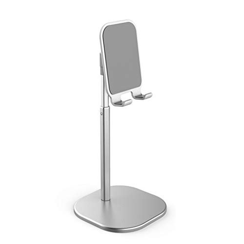 YWSZJ Tablet Smart Tablet Telescopic Desktop Stand Holder para teléfono móvil Soporte de Metal (Color : Silver)