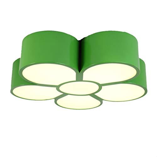 Enfants lampe de chambre garçons et filles modernes fleurs vertes minimalistes plafonnier enfants créatifs magasin de vêtements maternelle lampes -60x60x9CM